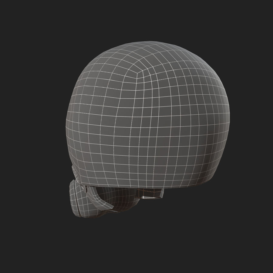 Helmet combat military Scifi fantasy space royalty-free 3d model - Preview no. 11