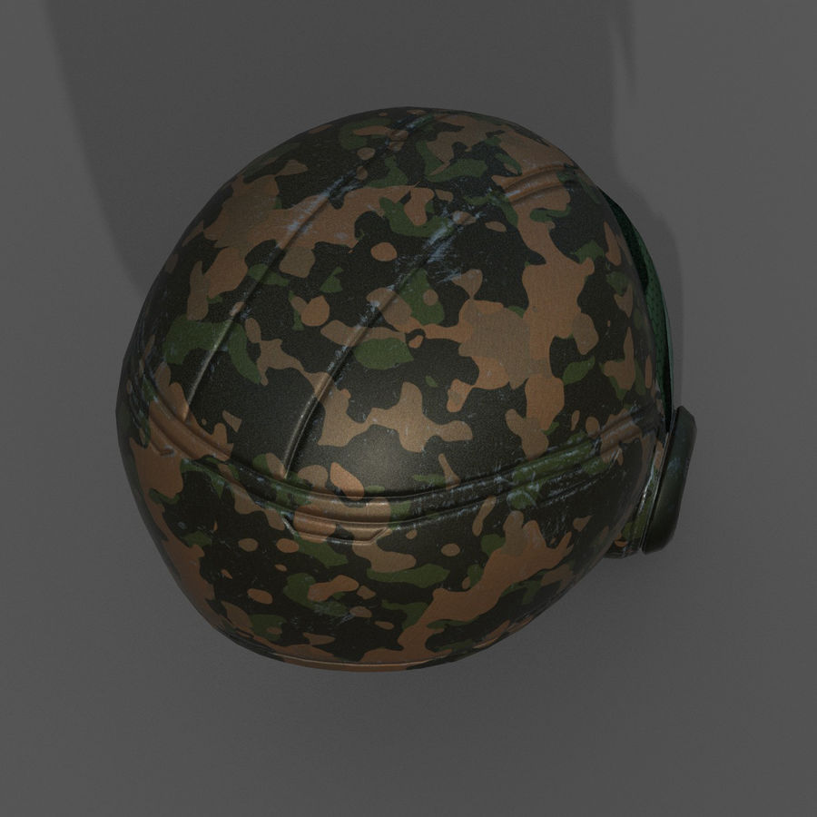 Helmet combat military Scifi fantasy space royalty-free 3d model - Preview no. 6