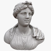 Young Woman Bust 3d model
