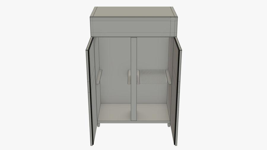 Podwójne drzwi lodówki royalty-free 3d model - Preview no. 11