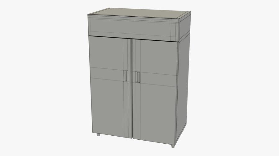 Podwójne drzwi lodówki royalty-free 3d model - Preview no. 10