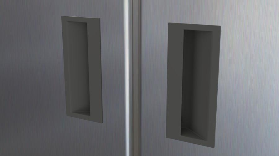 Podwójne drzwi lodówki royalty-free 3d model - Preview no. 8
