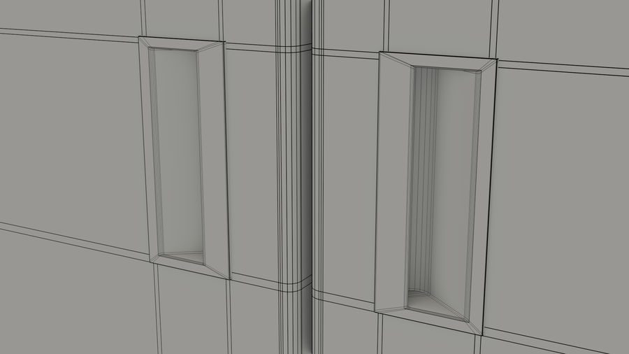 Podwójne drzwi lodówki royalty-free 3d model - Preview no. 14