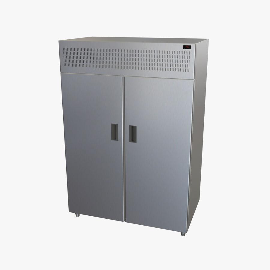 Podwójne drzwi lodówki royalty-free 3d model - Preview no. 1
