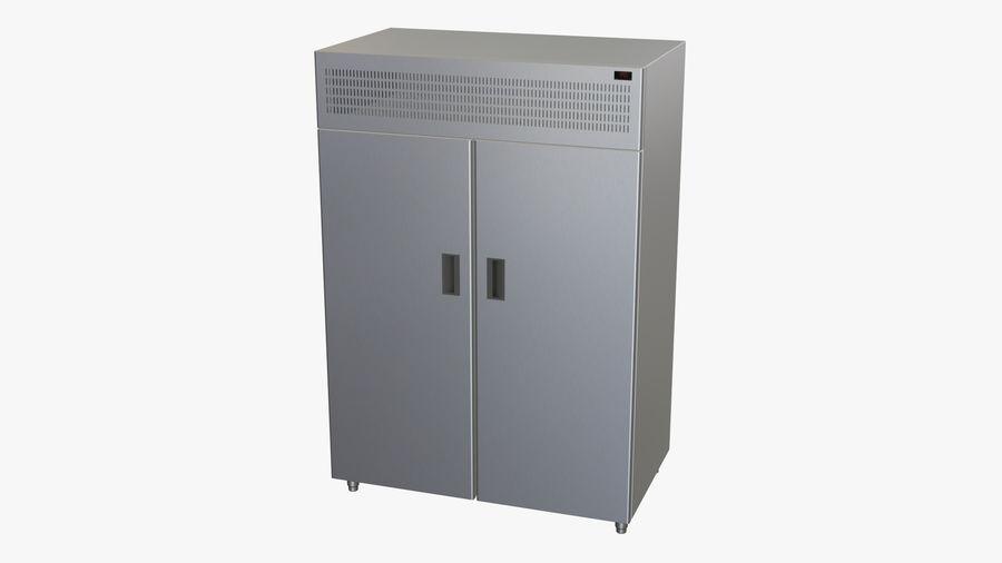 Podwójne drzwi lodówki royalty-free 3d model - Preview no. 2