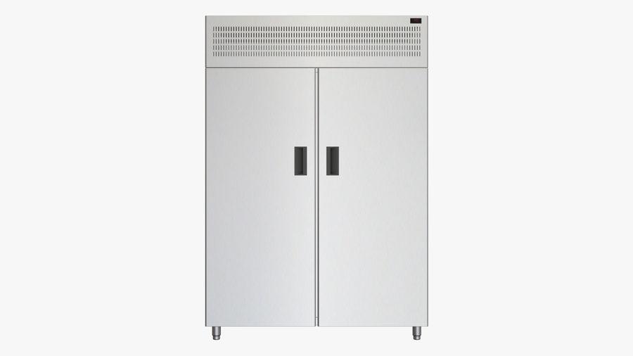 Podwójne drzwi lodówki royalty-free 3d model - Preview no. 3