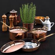 Vaisselle en cuivre 3d model