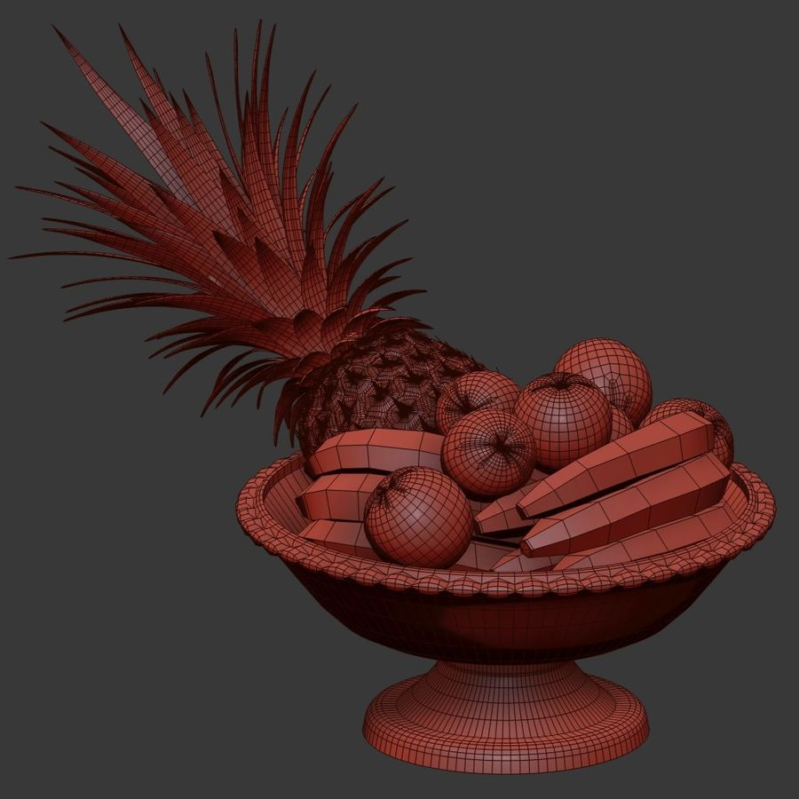 Fruits royalty-free 3d model - Preview no. 13
