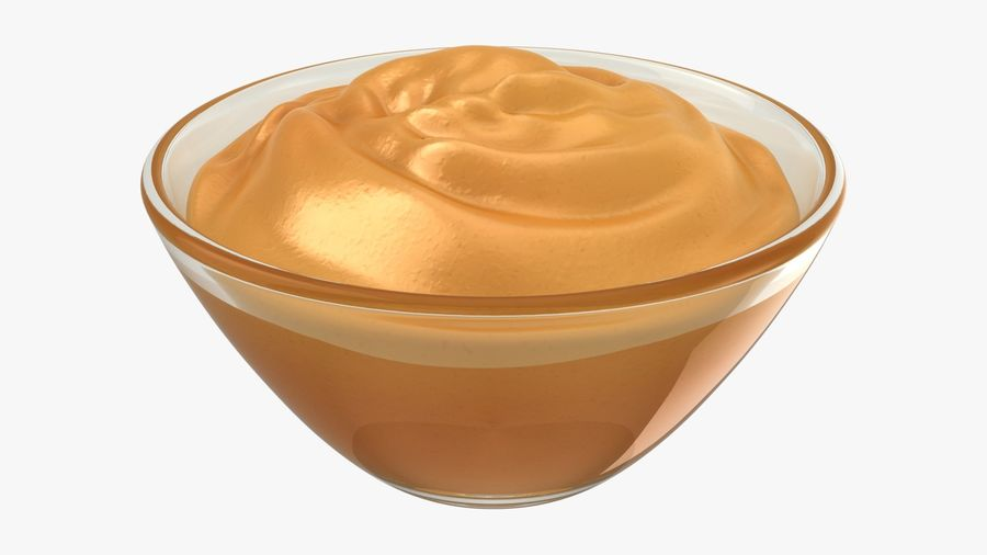 Peanut Butter in Bowl royalty-free 3d model - Preview no. 2