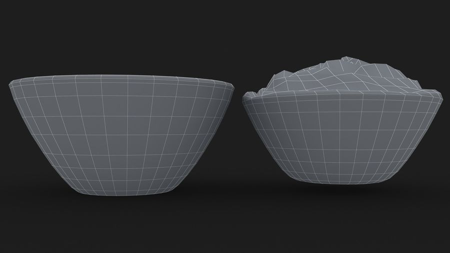 Peanut Butter in Bowl royalty-free 3d model - Preview no. 14