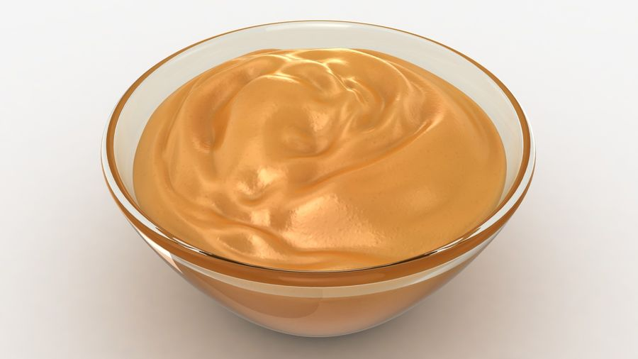 Peanut Butter in Bowl royalty-free 3d model - Preview no. 10