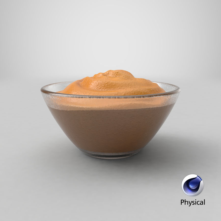 Peanut Butter in Bowl royalty-free 3d model - Preview no. 18