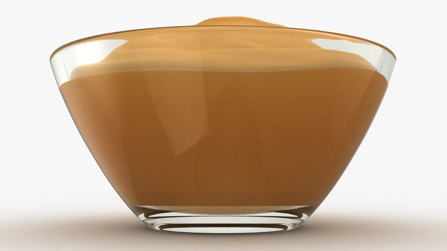 Peanut Butter in Bowl royalty-free 3d model - Preview no. 9