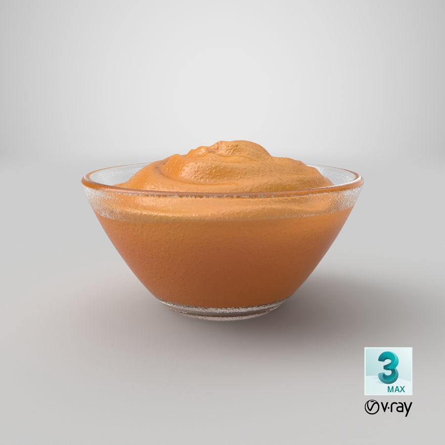 Peanut Butter in Bowl royalty-free 3d model - Preview no. 22