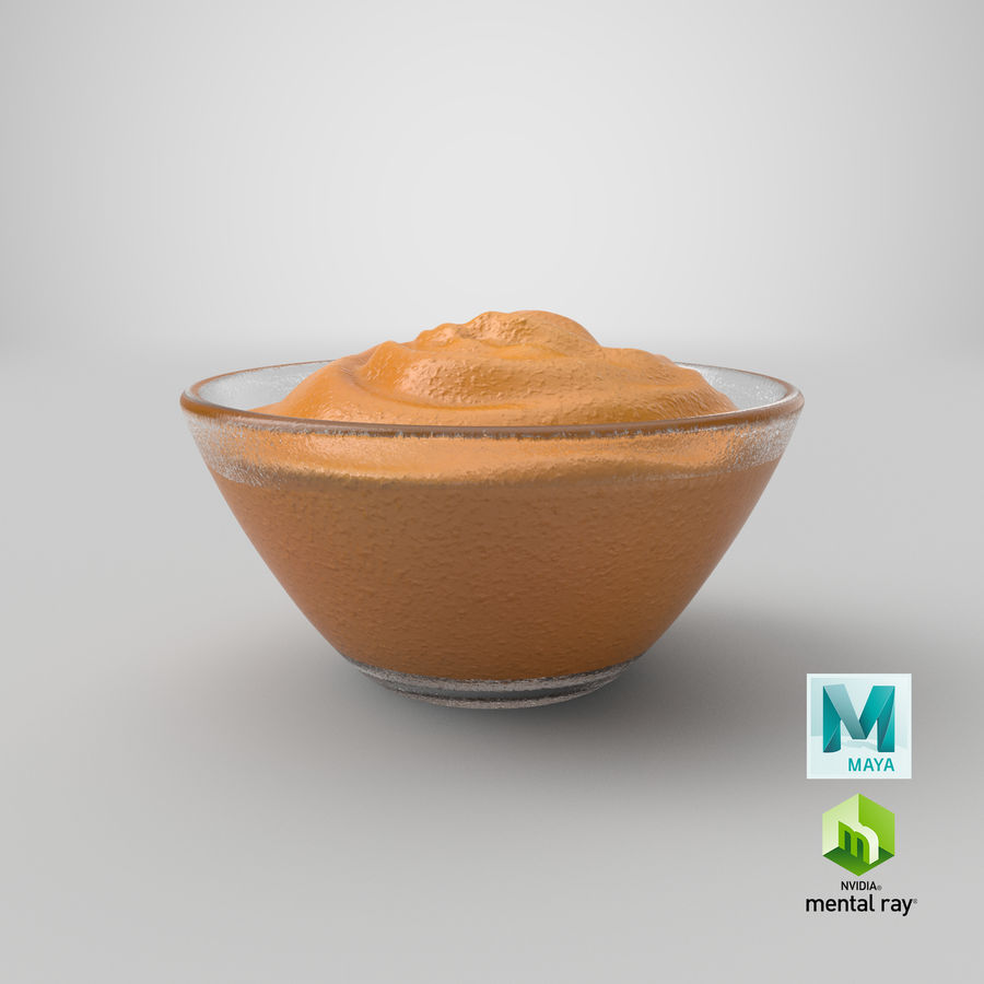 Peanut Butter in Bowl royalty-free 3d model - Preview no. 24