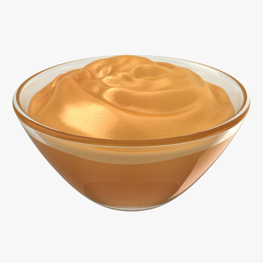 Peanut Butter in Bowl royalty-free 3d model - Preview no. 1