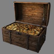 Kista full av guld 3d model