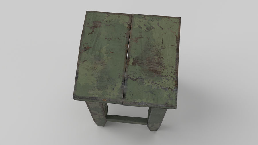 Stool USSR royalty-free 3d model - Preview no. 3