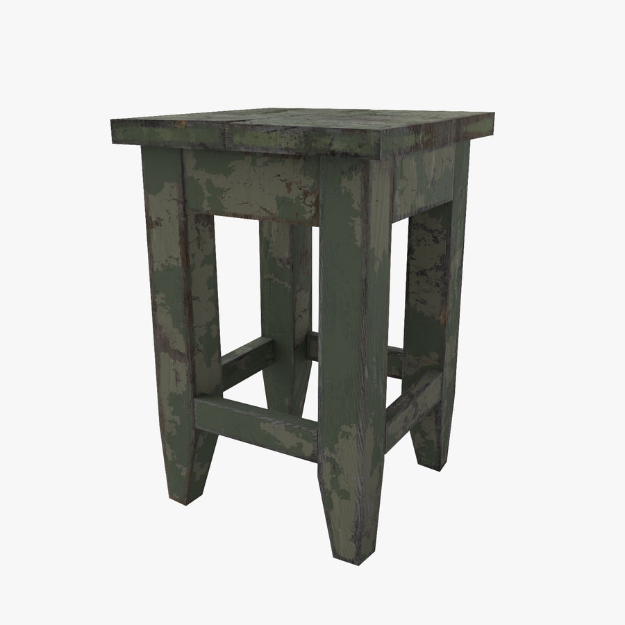 Stool USSR royalty-free 3d model - Preview no. 1