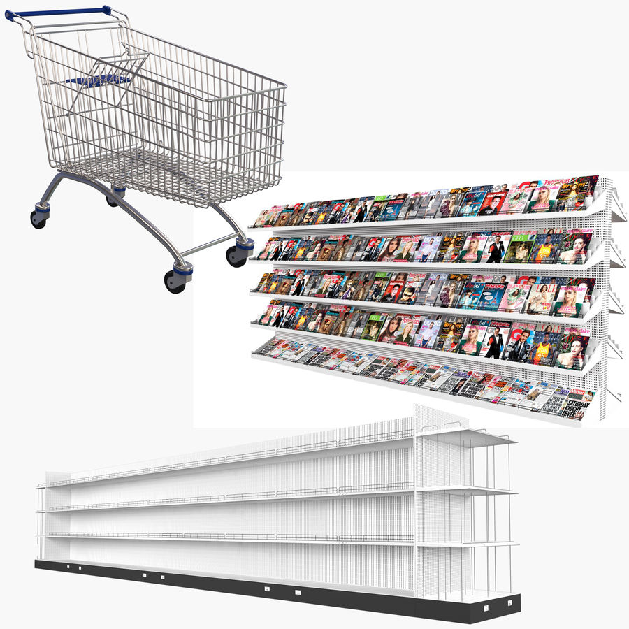 Grocery Store Collection 3 royalty-free 3d model - Preview no. 1
