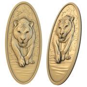 Roteador Panno Lion Bas Relief CNC 3d model