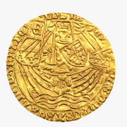 Ryal rose Noble gold coin 1465 Edward IV England London 3d model