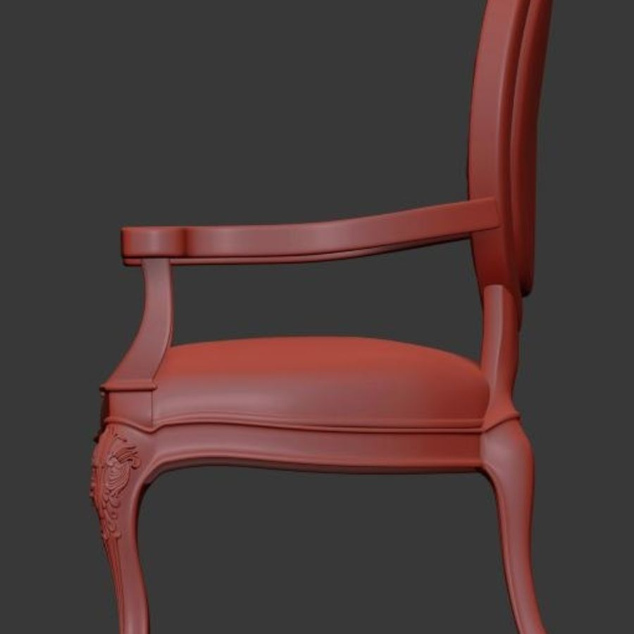 Arm chair royalty-free 3d model - Preview no. 5