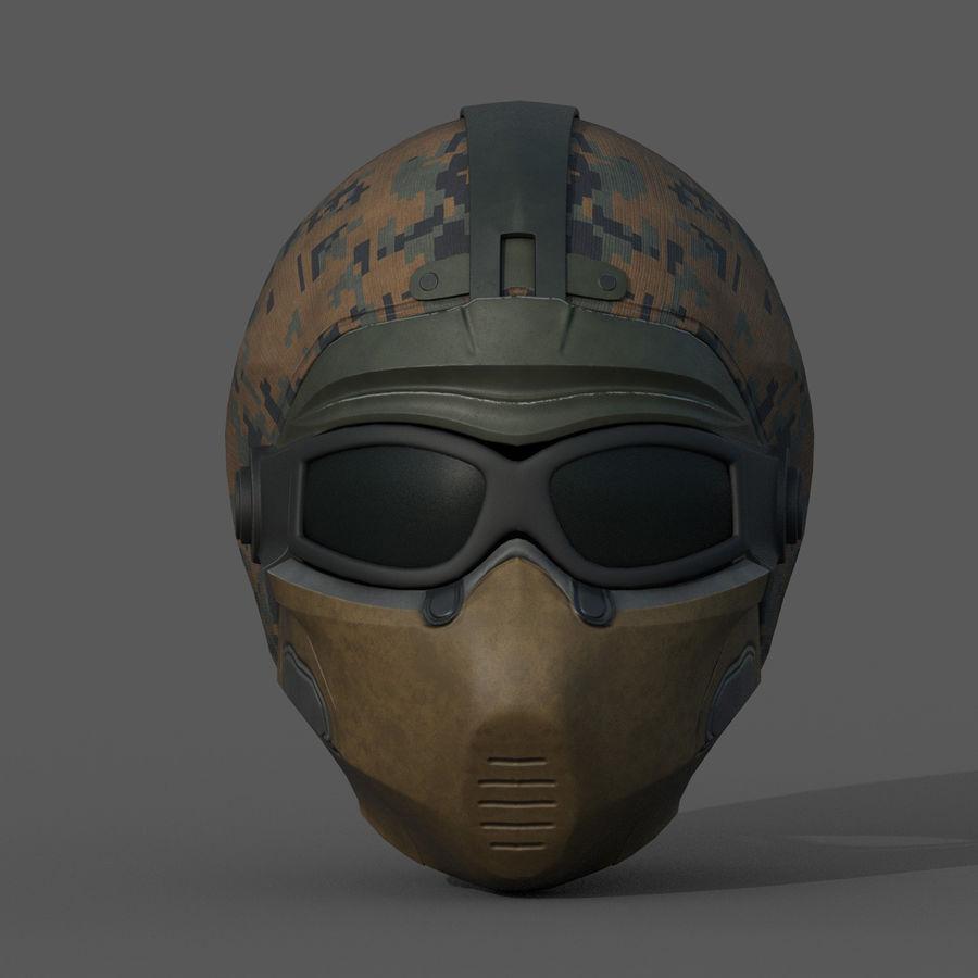Helmet scifi military fantasy si fi royalty-free 3d model - Preview no. 3