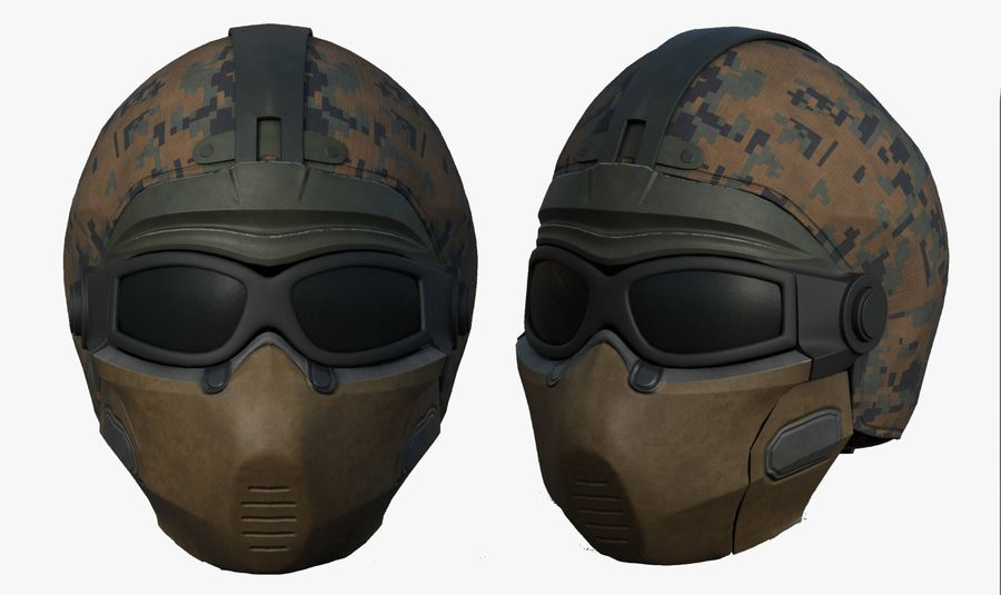 Helmet scifi military fantasy si fi royalty-free 3d model - Preview no. 1