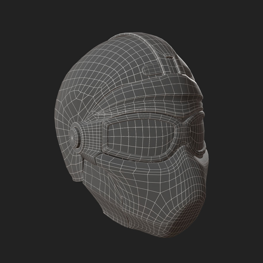 Helmet scifi military fantasy si fi royalty-free 3d model - Preview no. 12