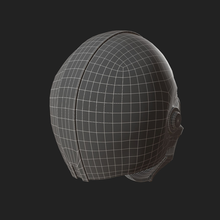 Helmet scifi military fantasy si fi royalty-free 3d model - Preview no. 11