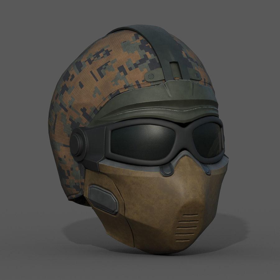 Helmet scifi military fantasy si fi royalty-free 3d model - Preview no. 4