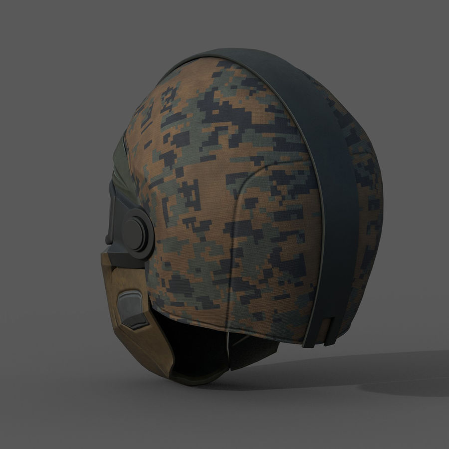 Helmet scifi military fantasy si fi royalty-free 3d model - Preview no. 5