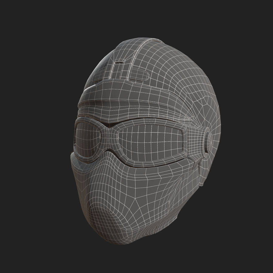 Helmet scifi military fantasy si fi royalty-free 3d model - Preview no. 10