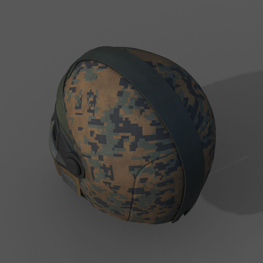 Helmet scifi military fantasy si fi royalty-free 3d model - Preview no. 6
