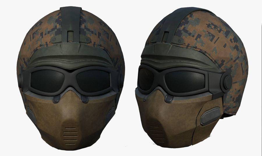 Helmet scifi military fantasy si fi royalty-free 3d model - Preview no. 1
