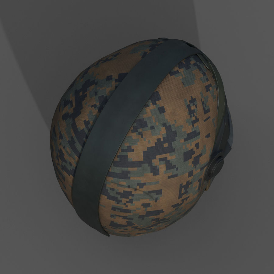 Helmet scifi military fantasy si fi royalty-free 3d model - Preview no. 7