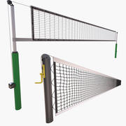 Rede de tênis e rede de vôlei 3d model