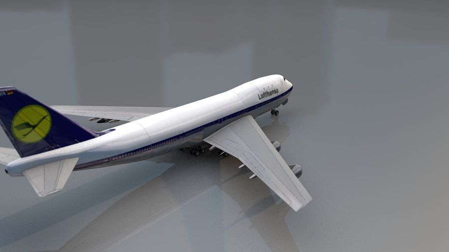 Aviões a jato royalty-free 3d model - Preview no. 9