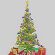 搅拌机中的圣诞树 3d model