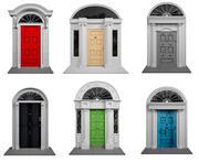 ダブリン色の外部ドア 3d model