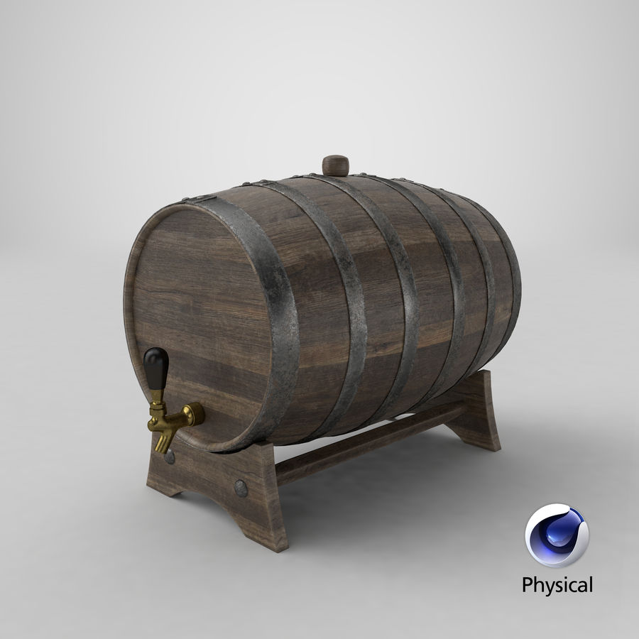 Whisky fat royalty-free 3d model - Preview no. 21