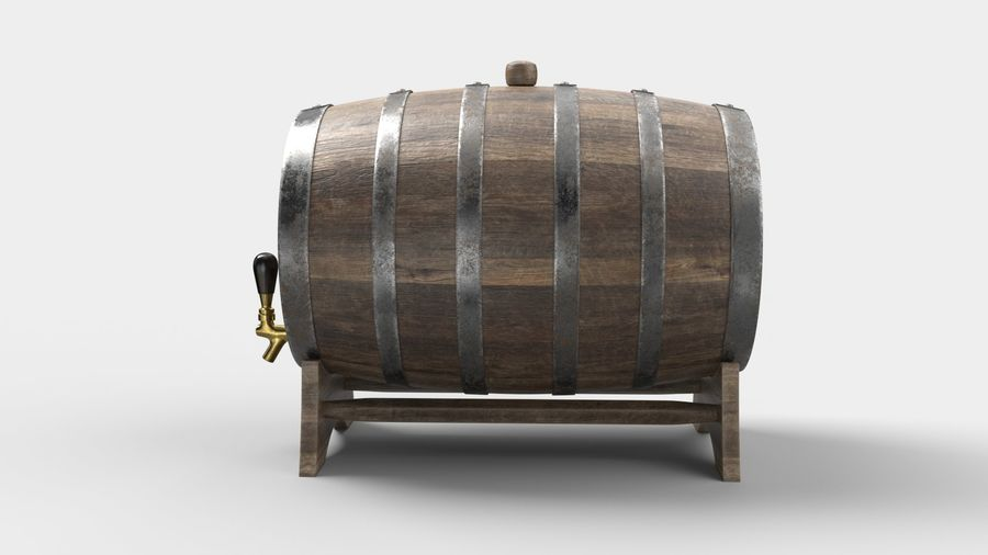 Whisky fat royalty-free 3d model - Preview no. 4