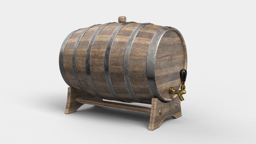 Whisky fat royalty-free 3d model - Preview no. 3
