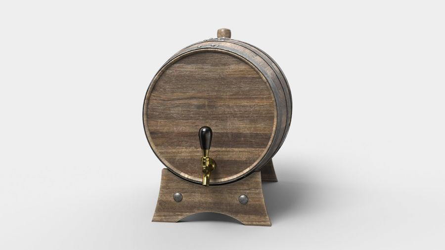 Whisky fat royalty-free 3d model - Preview no. 9