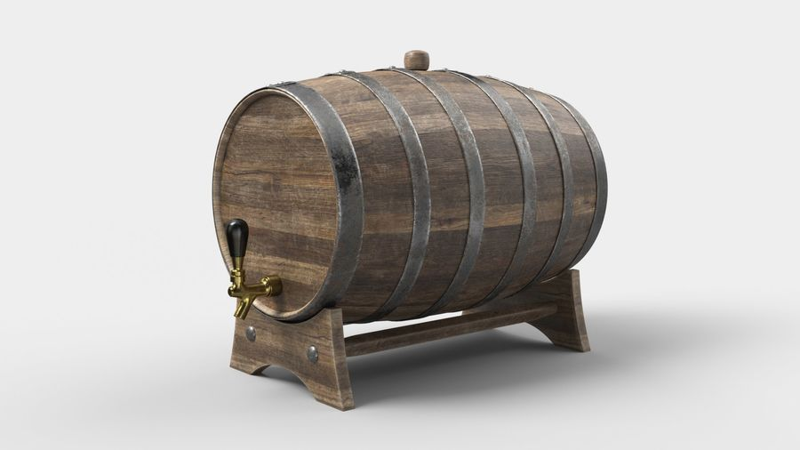 Whisky fat royalty-free 3d model - Preview no. 2
