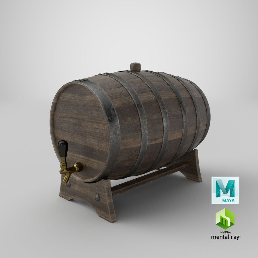 Whisky fat royalty-free 3d model - Preview no. 29
