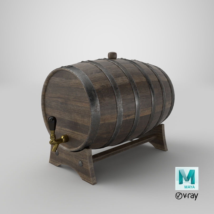 Whisky fat royalty-free 3d model - Preview no. 30