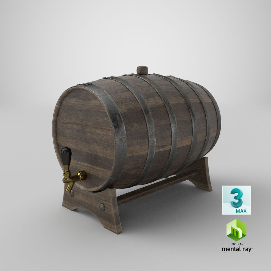 Whisky fat royalty-free 3d model - Preview no. 26