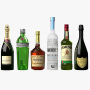 PBR Realistic Liquor Collection 3d model